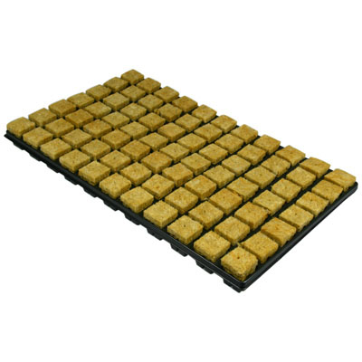 Tray of Rockwool
