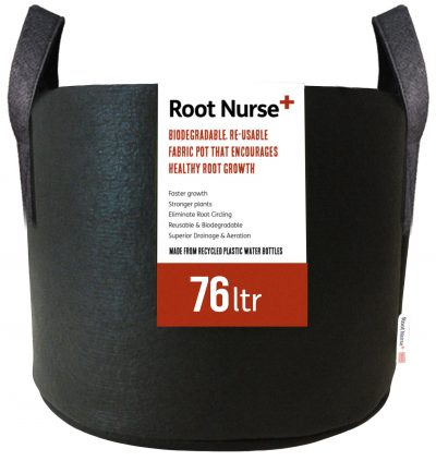 Root Nurse Round Black Fabric Pots